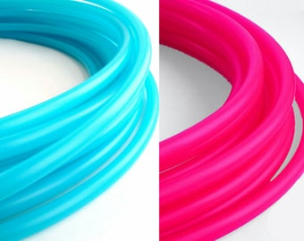 """2 Tone Polypro Hula Hoop  5/8"""" or 3/4"""" Collapsible for Travel- Push Pin Connection"""