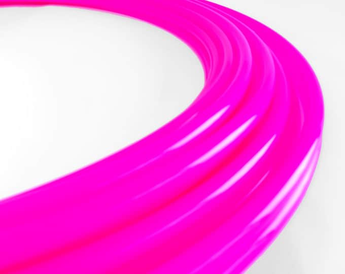 Radioactive UV Lip Gloss Pink High Gloss Polypro 3/4 // Collapsible Push Pin Connection // Light Weight//Trick Hoop//Dance Hoop