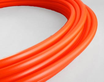 "Polypro Hula Hoop 3/4"" UV Mettallic Tiger Lilly Orange - Collapsible for Travel- Push Pin Connection-Sizes 22""-38"""
