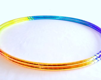 Clear Coat Included //Translucent UV Taped Performance Polypro or HDPE Hula Hoop Hula Hoop or Minis 3/4 or 5/8