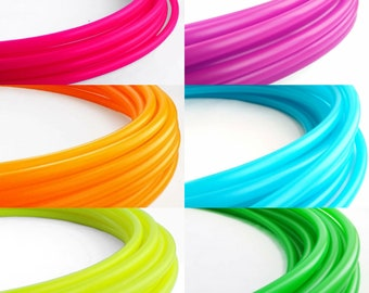 "11/16"" Rainbow Six Piece Polypro Hula Hoop Collapsible for Travel- Push Pin Connection"