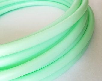 UV Mint 3/4 HDPE Hula Hoop// Customizable// Light Weight//Trick Hoop//Dance Hoop