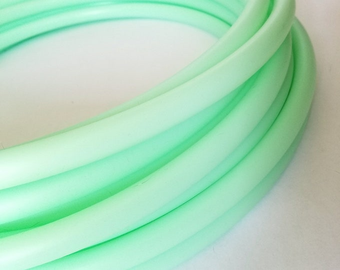 UV Mint 3/4 HDPE Hula Hoop// Customizable// Light Weight//Trick Hoop//Dance Hoop