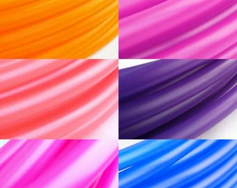 """UV Six Toned  Ombre Sun Set Polypro Hula Hoop 3/4""""or 5/8"""" Collapsible for Travel- Push Pin Connection"""