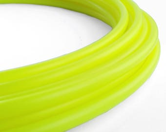 "Polypro Hula Hoop 11/16"" UV Yellow- Collapsible for Travel- Push Pin Connection-Sizes 22""-38"""