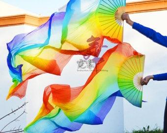 Silk Dance Fans // Rainbow