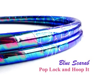 Polypro Hoop or HDPE //Blue Scarab Performance Polypro or HDPE Hula Hoop Hula Hoop or Minis 3/4 or 5/8