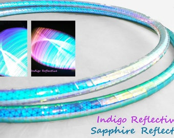 Double Minis High Intensity  Reflective  // Twins//Performance Polypro Hula Hoop 3/4 or 5/8 not a led Hula Hoop