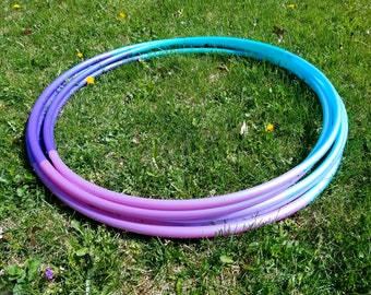 """Cosmic Clouds Ombre 4 Tone Polypro Hula Hoop 3/4""""or 5/8"""" Collapsible for Travel- Push Pin Connection"""