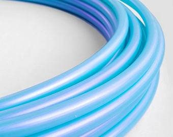 Irridecent Blue Pearl 5/8 Polypro Hula Hoop// Customizable//Super Light Weight//Trick Hoop//Dance Hoop