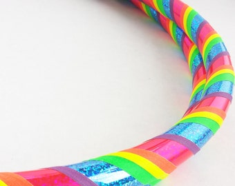 Rainbow All Sizes Beginner//Polypro//Kid//Weighted//Exercise//Dance Hula Hoop // Customizable