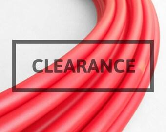 Ferrari Red 3/4 Polypro Hula Hoop// Customizable//Super Light Weight//Trick Hoop//Dance Hoop