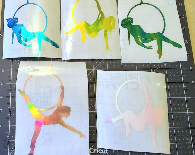 Aerial Hoop Vinyl Sticker // Car Decal // Window Decal // Multiple Surface Decal // Out Door Vinyl