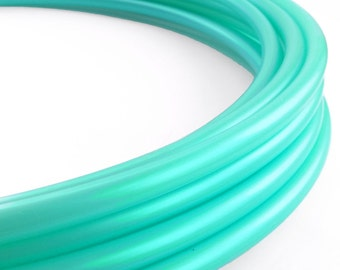 Iridescent Turquoise 3/4 Polypro Hoop// Customizable//Super Light Weight//Trick Hoop//Dance Hoop