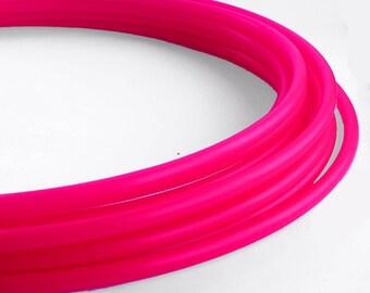 UV Hot Pink 5/8 Polypro Hula Hoop// Customizable//Supper Light Weight//Trick Hoop//Dance Hoop