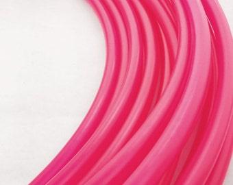Hot Pink 5/8 HDPE Hula Hoop// Customizable//Super Light Weight//Trick Hoop//Dance Hoop