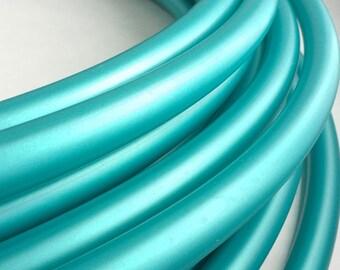 Peacock Teal Polypro 5/8 Hula Hoop// Customizable// Light Weight//Trick Hoop//Dance Hoop