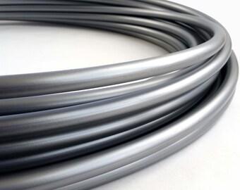 Metallic Silver 5/8 Polypro Hula Hoop// Customizable//Super Light Weight//Trick Hoop//Dance Hoop