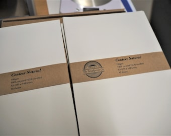 A5 / A4 Plain Paper Packs (100gsm) for Bookbinding and other Crafts