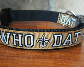 New Orleans Saints Who Dat Dog Collar