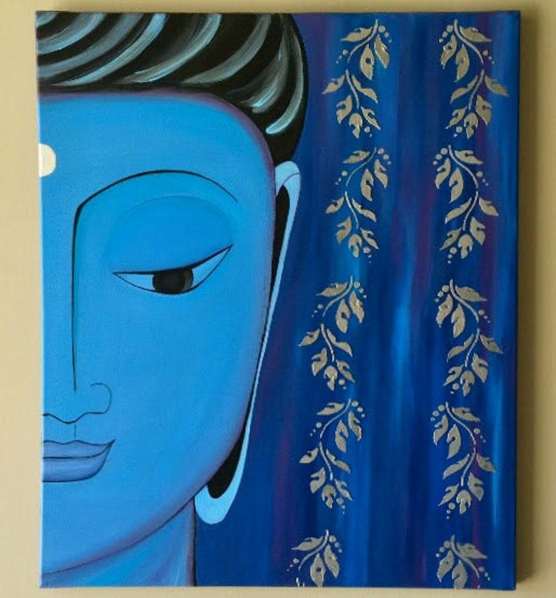 Peinture De Bouddha Zen Bouddha Abstract Painting Bouddha De Etsy
