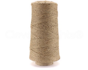 75 Feet 5 Ply 5mm Thick Natural Jute Twine String for Gardens and Hemp Ribbon Crafts Bedazzlinbeads