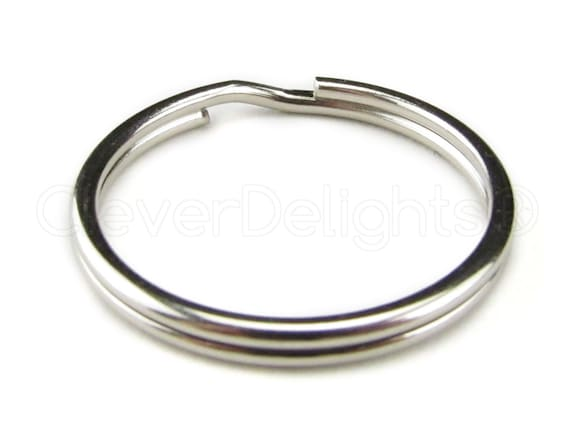 "Wholesale 500 Key Rings Silver Metal Split Rings 28mm 1 1//16/"" Bulk Locksmith New"