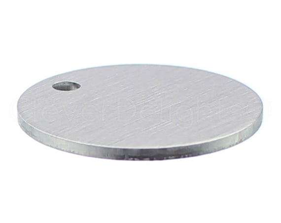 """50 Pk Shiny Anodized 3mm Hole 18 GA 2/"""" Round Aluminum Stamping Blanks"""