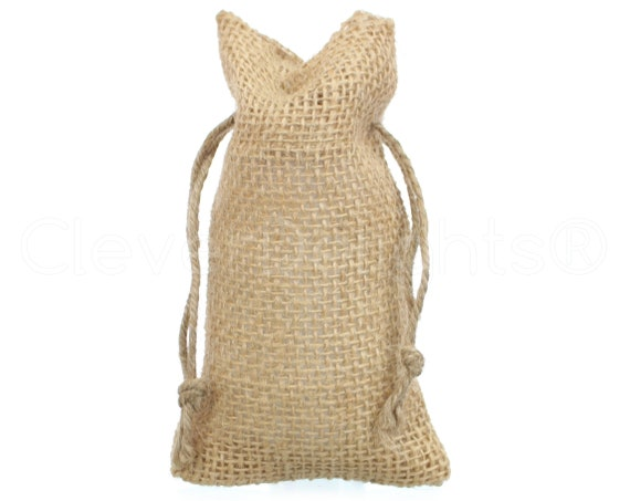 40 3x5 Small Burlap Bags Natural Rustic With