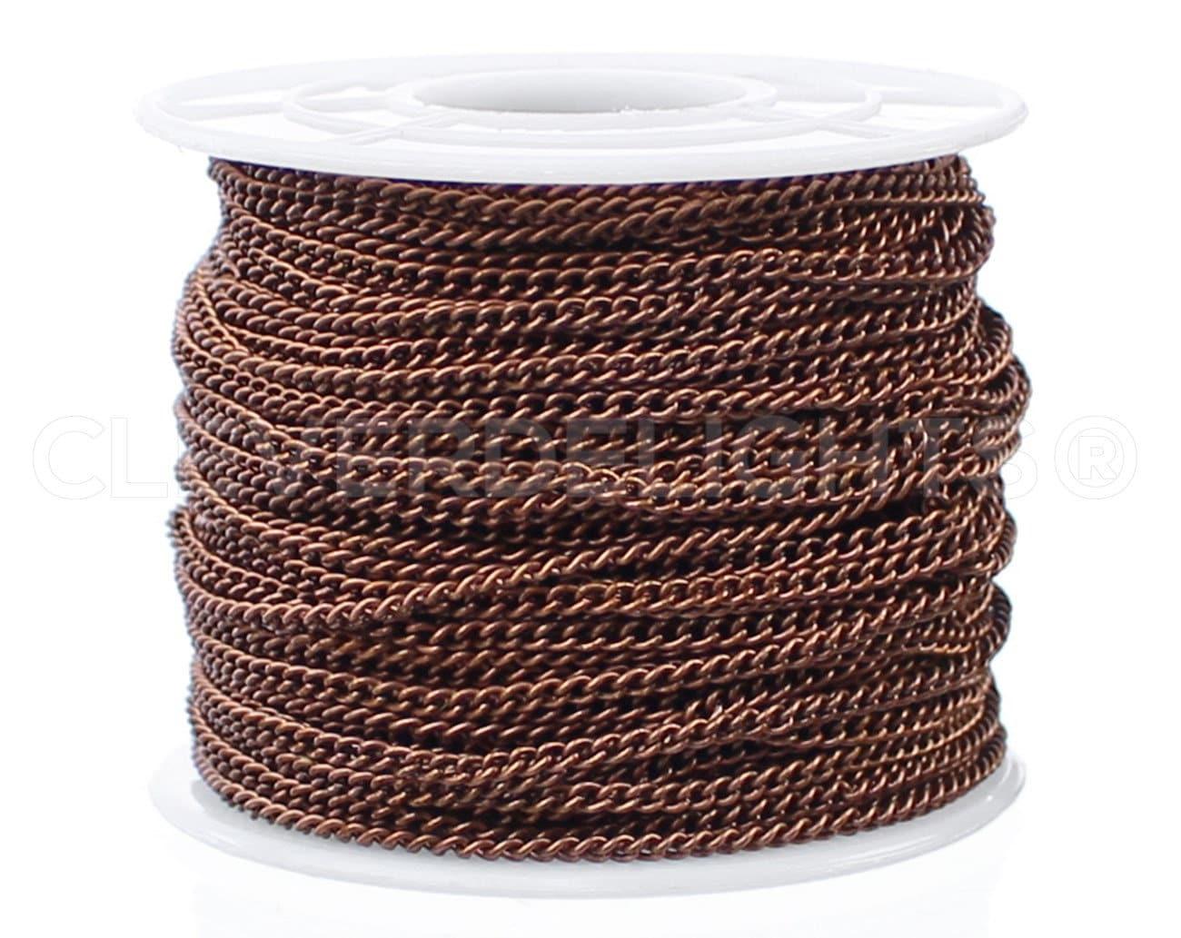 30 Gourmette pi - 2.2x3mm Gourmette 30 - couleur cuivre Antique - pour colliers et bijoux personnalisés - 2,2 mm x 3 mm torsadé maillons ovales e5f14f
