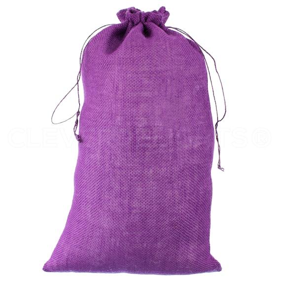 "2 Pk 12/"" x 20/"" Natural Burlap Bags with Jute Drawstring Wedding Party Decor"