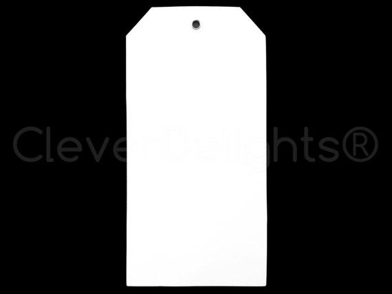 50 White Plastic Tags 6 25