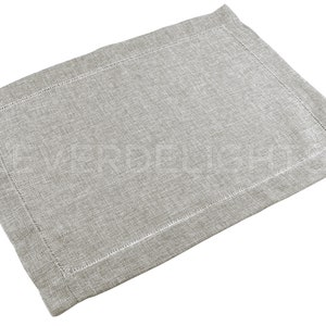 Ladder Hemstitched Place Mats 100/% Soft Polyester 6 Pk Hemstitch Placemats 14 x 20 Red Velvet Color Easy Care /& Washable