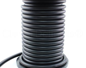 """25 Ft - Black Rubber Cord - 1"""" Round - Buna Rubber - 70 Durometer - Premium Rubber Cord Tube Rod O-Ring DIY Projects - 1 Inch"""