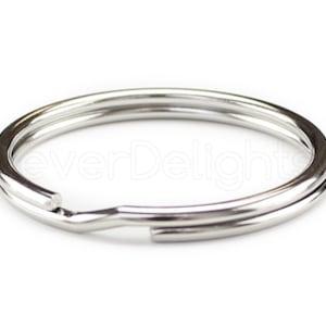 16mm 30mm Split Rings Small Key Rings for Keys Organization DIY Crafts Keyrings