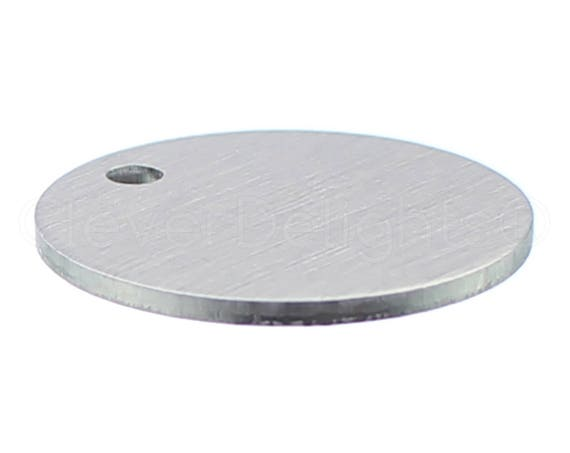 Circle Discs Tags 50 Pack .025 22 Gauge CleverDelights 1//2 Round Stamping Blanks Aluminum