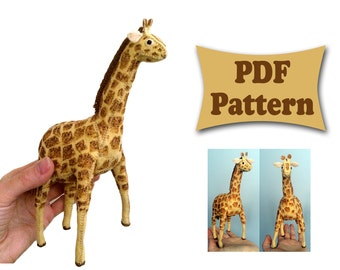 Felt Giraffe, Giraffe Pattern, Felt Pattern, Felt Doll Pattern, Felt Animal Patterns, Soft Felt Toy Pattern, PDF sewing patterns