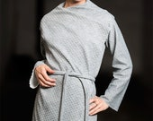 Gray Cardigan, Asymmetric Knit Cardigan, Knitted Coat, Gray cardigan outfit, Doubleface Jacket, Gray Cardigan, Kimono Jacket, Wool Cardigan