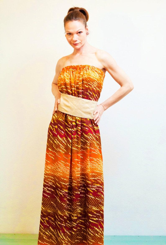 Boho dress Maxi dress Long summer dress Burnt orange dress image 0