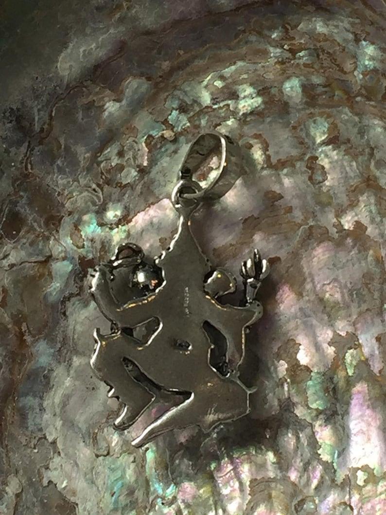 life hope Stunningly detailed 925 sterling silver Ganesha the Elephant headed  god pendant new beginnings positivity wealth good fortune