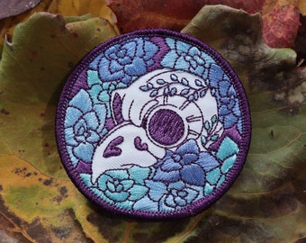 Succulent Owl Skull Iron-On Patch