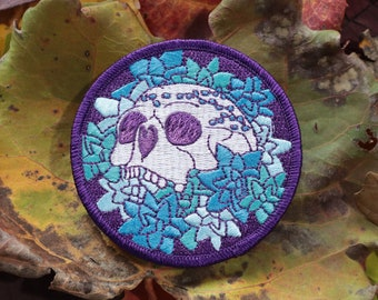Succulent Skull Iron-On Patch