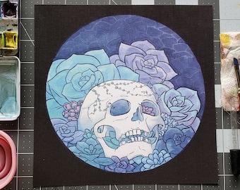 Succulent Skull 8x8in Print