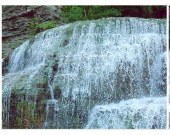 Waterfall note card