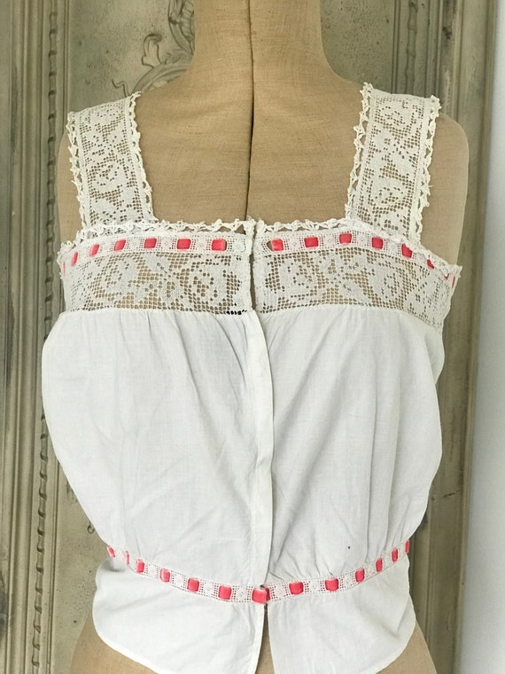 Antique Edwardian chemise / camisole /corset cover
