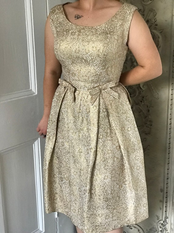 1960s /50s  Gold lame dress