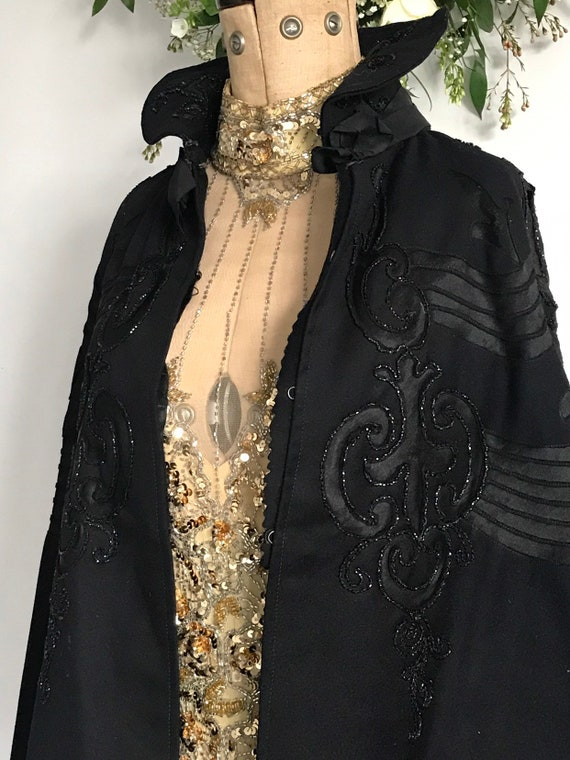 Beautiful Victorian wool and beaded cape