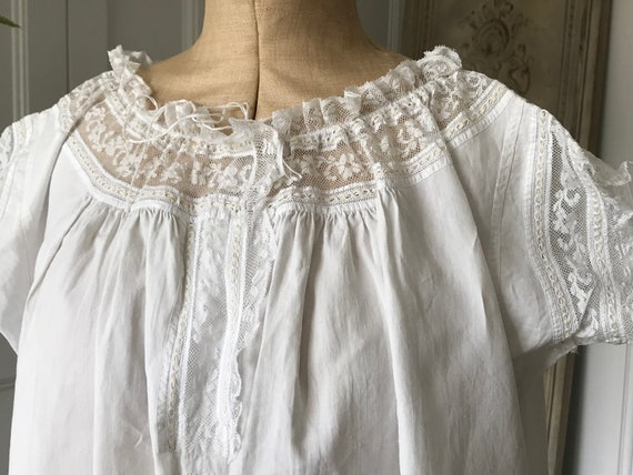Victorian Smock dress loose gown night gown with m