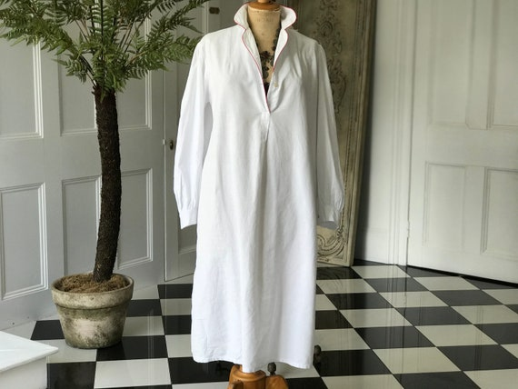 Antique Edwardian loose smock shirt dress mens shi