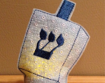 Dreidel battery operated light up tealight cover embroidered Hanukkah, decoration, home decor, holiday